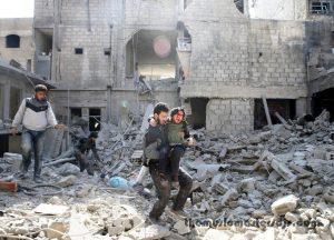 ปลอกกระสุน ในวงล้อมกบฏซีเรียคร่าชีวิต 7 คน