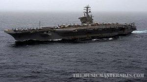 เรือบรรทุก กองทัพเรือเดินทางกลับตะวันออกกลาง